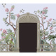 Border with Peony, Trees, Bird and Door Openings - GraphicRiver Item for Sale