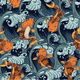 Seamless Pattern with Koi Fish Japanese Vintage - GraphicRiver Item for Sale