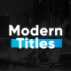 Modern Titles & Lower Thirds - VideoHive Item for Sale