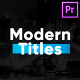 Modern Titles & Lower Thirds for Premiere Pro - VideoHive Item for Sale