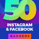 50-Instagram & Facebook Banners - GraphicRiver Item for Sale
