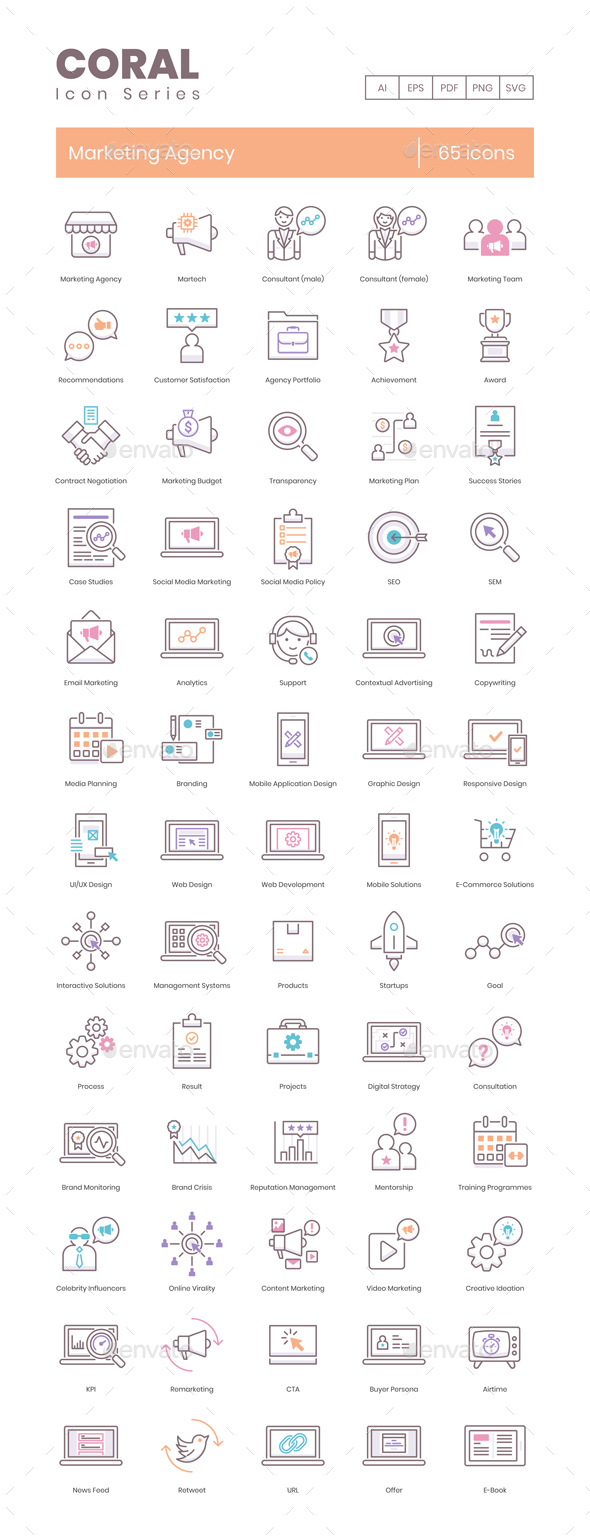 Marketing Agency Icons
