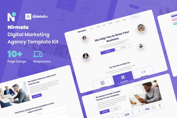 Nirmala - Digital Marketing Agency Elementor Template Kit