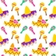 Mexican Sombrero Seamless Pattern - GraphicRiver Item for Sale