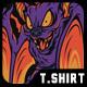 Devil Bat T-Shirt Design - GraphicRiver Item for Sale