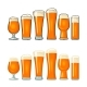 Different Types Beer Glasses. Vector Color Flat - GraphicRiver Item for Sale