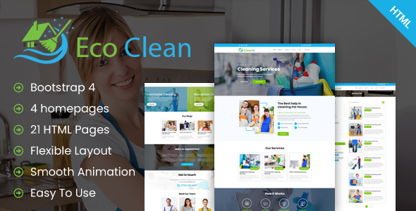 Eco Clean - Cleaning HTML Template