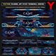 The Game All Star Gaming Live Steam Youtube Channel Art/Video Thumbnail and Ending Video Template - GraphicRiver Item for Sale