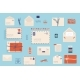 Christmas Envelope with Stamps - GraphicRiver Item for Sale