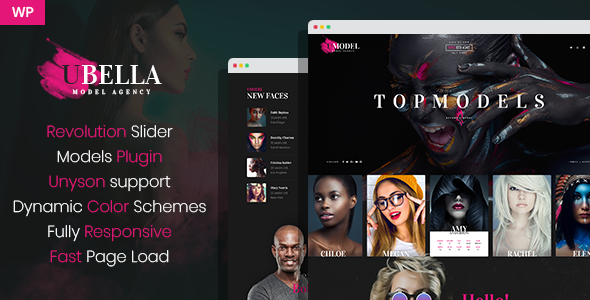 UBella - Model Agency WordPress Theme