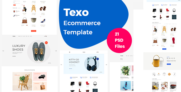 Download Texo – Multipurpose ecommerce psd template Nulled