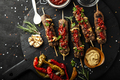 Grilled sausages and vegetables with  spices and fresh herbs - PhotoDune Item for Sale