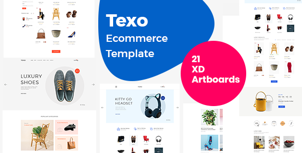 Download Texo – Multipurpose ecommerce adobe xd template Nulled