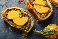 Roll stuffed with mushrooms and pumpkin. - PhotoDune Item for Sale