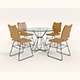 Contemporary Design Table and Chair Set 8 - 3DOcean Item for Sale