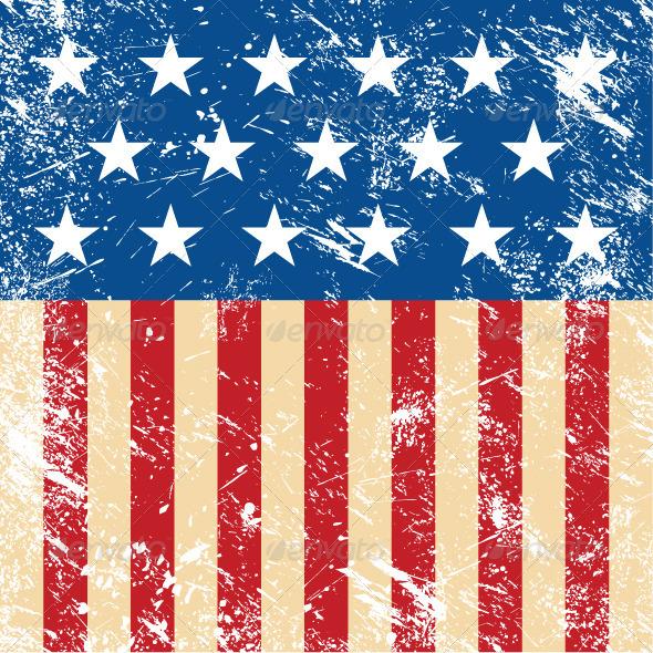 USA retro flag