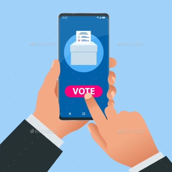 Isometric Online Voting and Election Concept