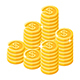 Gold Coins Stack and Pattern - GraphicRiver Item for Sale