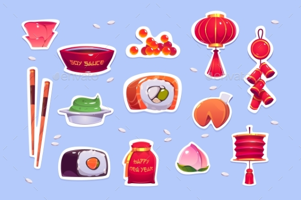 Food and Decoration for Chinese New Year