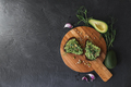 Toast with avocado and microgreens. - PhotoDune Item for Sale