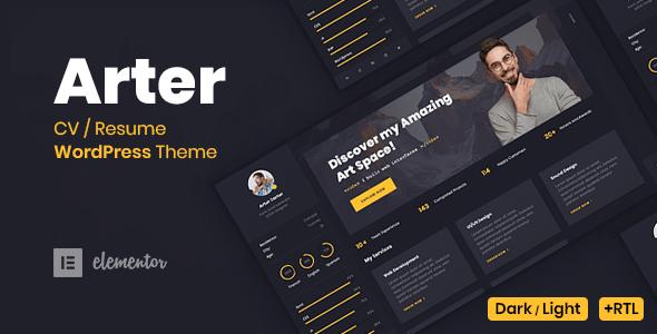 Arter - CV Resume WordPress Theme