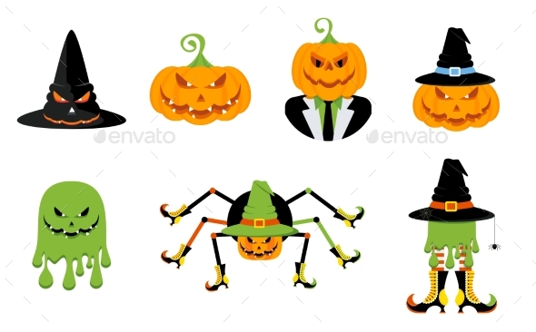 Set of Characters for the Holiday Halloween.