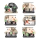 Restaurant Scene Set, Flat Vector Isolated - GraphicRiver Item for Sale