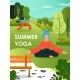 Summer Yoga Poster Design Template, Flat Vector - GraphicRiver Item for Sale