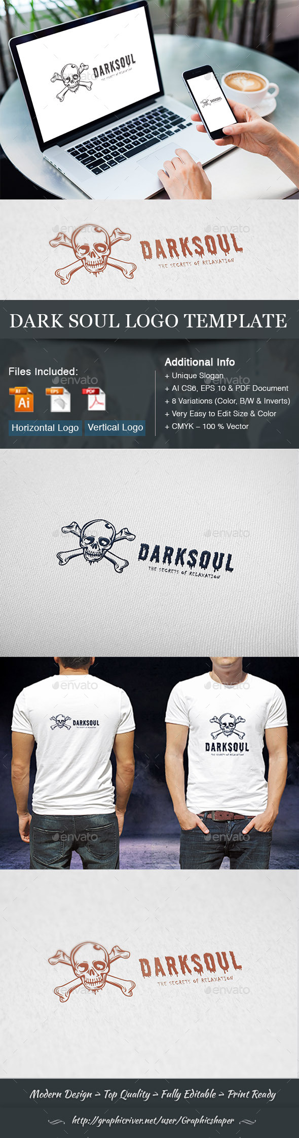 Dark Soul Logo Template