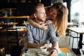Beautiful man and woman flirt - PhotoDune Item for Sale