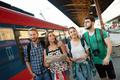Group of friends traveling by train - PhotoDune Item for Sale