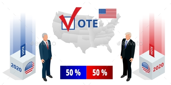 Election Day USA Debate of President Voting 2020