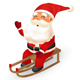 Santa Claus Sledding Down - GraphicRiver Item for Sale