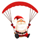 Santa Claus Skydiving - GraphicRiver Item for Sale