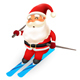 Santa Claus Skiing - GraphicRiver Item for Sale
