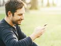 Man using smartphone - PhotoDune Item for Sale
