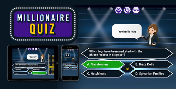 Download Millionaire Quiz – HTML5 Game Nulled