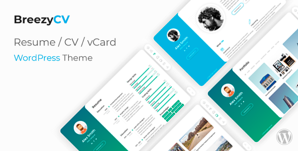 BreezyCV - CV Resume WordPress Theme