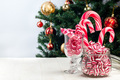 Different kinds of Christmas candy in glass jars - PhotoDune Item for Sale