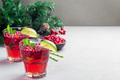 Lingonberry and lime punch or limeade in a glass - PhotoDune Item for Sale