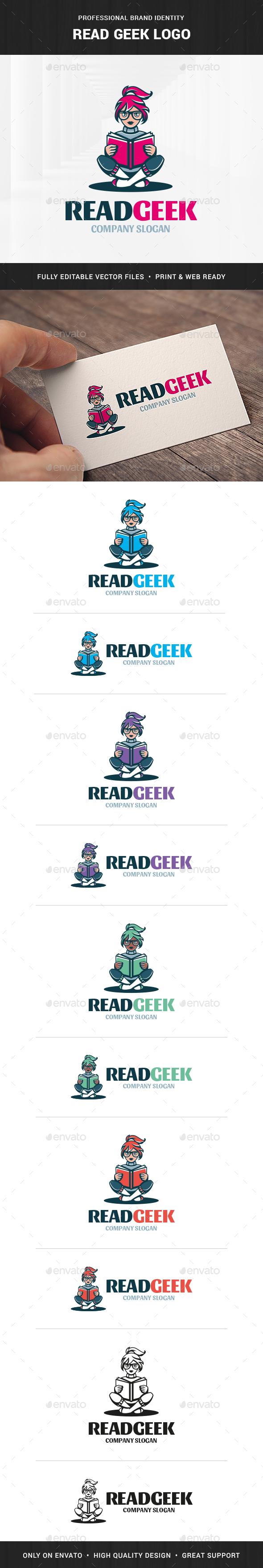 Read Geek Logo Template