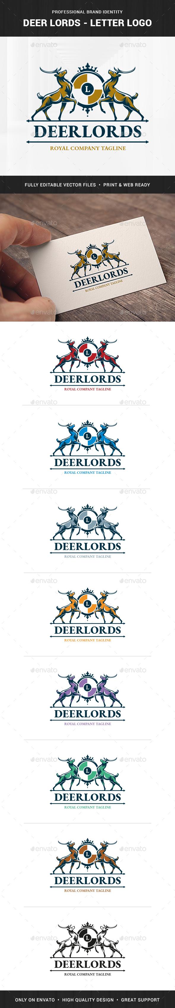 Deer Lords - Letter  Logo Template
