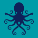 Blue Octopus Animal Logo Template - GraphicRiver Item for Sale