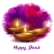 Burning Diya on Happy Diwali Holiday on Dark - GraphicRiver Item for Sale