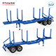 Trailer for Carrying Logs 3D Printing Model - 3DOcean Item for Sale