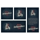 Set Horizontal Vertical Square Posters Happy - GraphicRiver Item for Sale