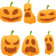 Halloween Pumpkin Illustration with Various Expressions - GraphicRiver Item for Sale