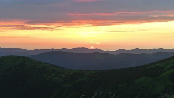 Timelapse of Beautiful Orange Sunrise