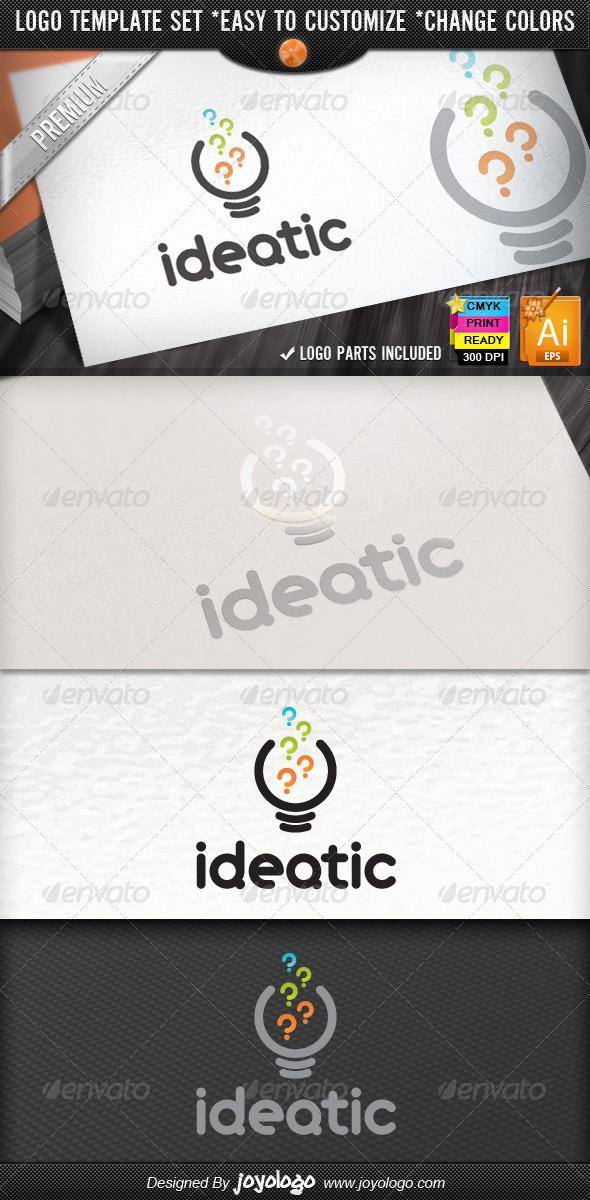 Bright Think Questions Creative Idea Logo Design