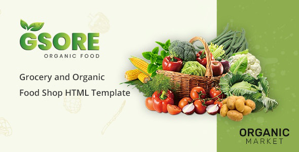 Download Gsore – Grocery and Organic Food Shop HTML Template Nulled